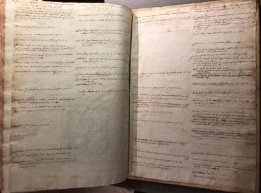 Pagine manoscritte - ultime carte bianche