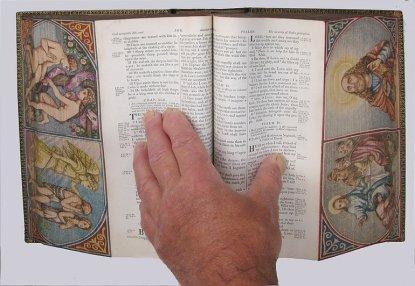 """Un libro dipinto con la tecnica del """"double fore-edge painting"""""""