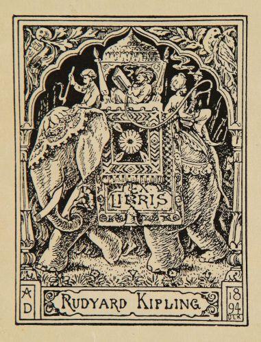 Ex-Libris personale di Rudyard Kipling