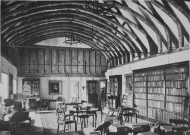 Biblioteca privata di Foley all'interno di Beeleigh Abbey