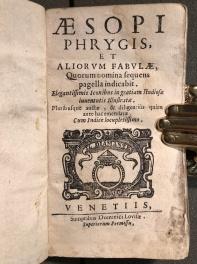 L'Esopo in edizione del 1668