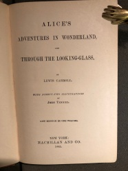 Una delle prime edizioni di Alice in Wonderland