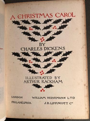 """""""A Christmas Carol"""" in edizione del 1915"""