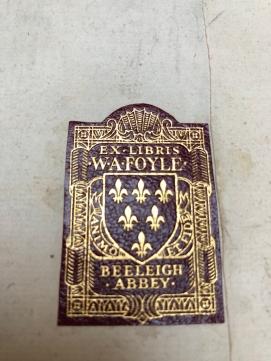 Ex-Libris di W.A.Foyle