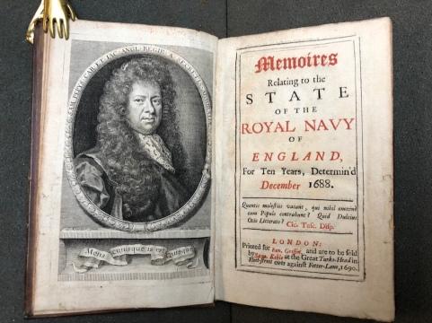"""Frontespizio del """"Pepys"""" - 1690"""