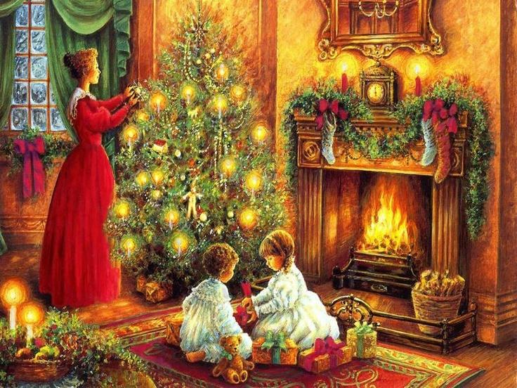 3-bimbi sotto l'albero