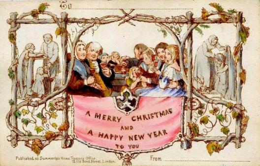 Il primo biglietto d'auguri natalizio