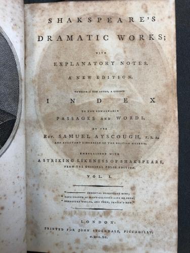 L'edizione di Stockdale del 1790 - frontespizio