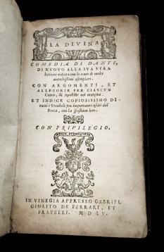 """La prima """"Divina"""" - Venezia 1555"""