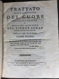 Frontespizio prima edizione italiana - 1773