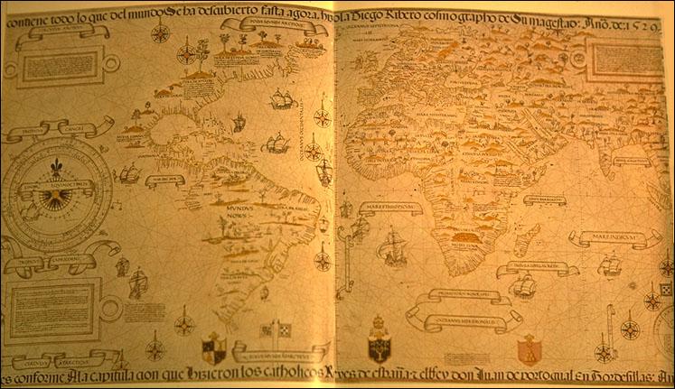 Mappa del mondo di Ribero 1529