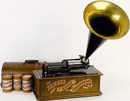 Uno dei primi fonografi di Edison commercializzati (1890-1900)