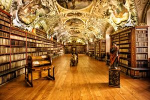 Libreria a parete - Praga Monastero Strahov